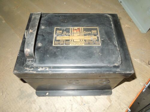 Bulldog Bp322 60a 3ph 3w 230v Ac Fusible Cover Operated Bus Plug Used E-ok