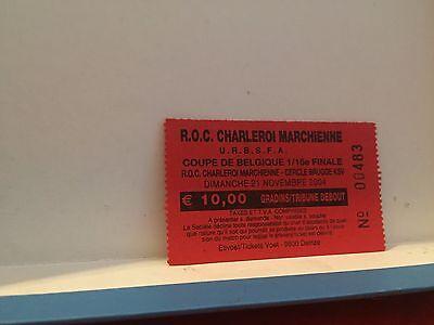 Football Ticket - UEFA - ROC Charleroi Marchienne - Club Brugge