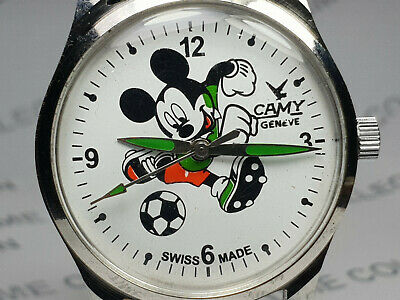 Vintage Camy Mickey Mouse Dial Mechanical Handwinding Mens Wrist Watch VG33
