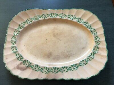 Ceramic Serving Plank in Aqua Fern