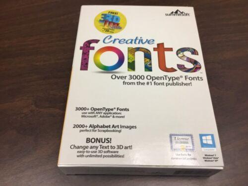Creative Fonts 3D (Downloadable Content) Windows Digital Download SUM681800F016