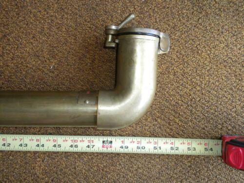"Nautical Antique Ship Brass Voice Tube ""Radio Room"", 51"" Long, 1 7/8"" Diameter"