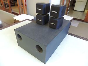Bose AM5 Accoustimas twin cubes with passive bass module Lutwyche Brisbane North East Preview