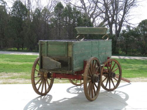 Antique Horse Drawn Wagon Farm High Narrow Wooden Wheel All ORIGINAL