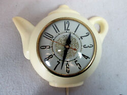 Vintage 1960's Sessions coffee tea pot electric kitchen wall clock (works)