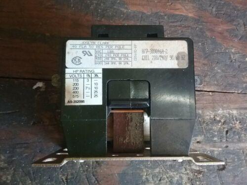 Joslyn Clark A77-309046A-2, 40A, 3 Pole, 50/60 Hz Contactor