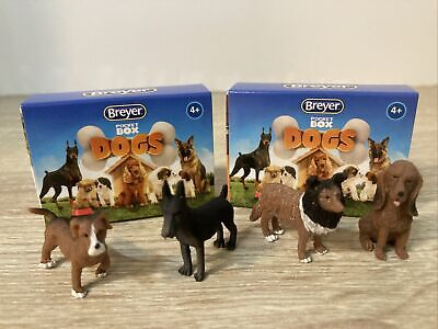 Breyer Pocket Box Dogs Two Opened Blind Bags Four Dogs New 1590