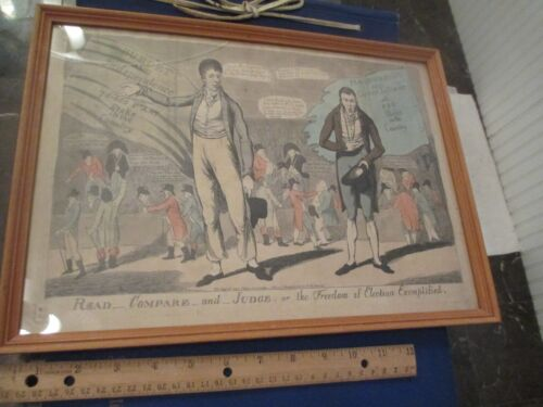 1804 Fores Engraving Freedom of Elections Political Engraving English Burdett