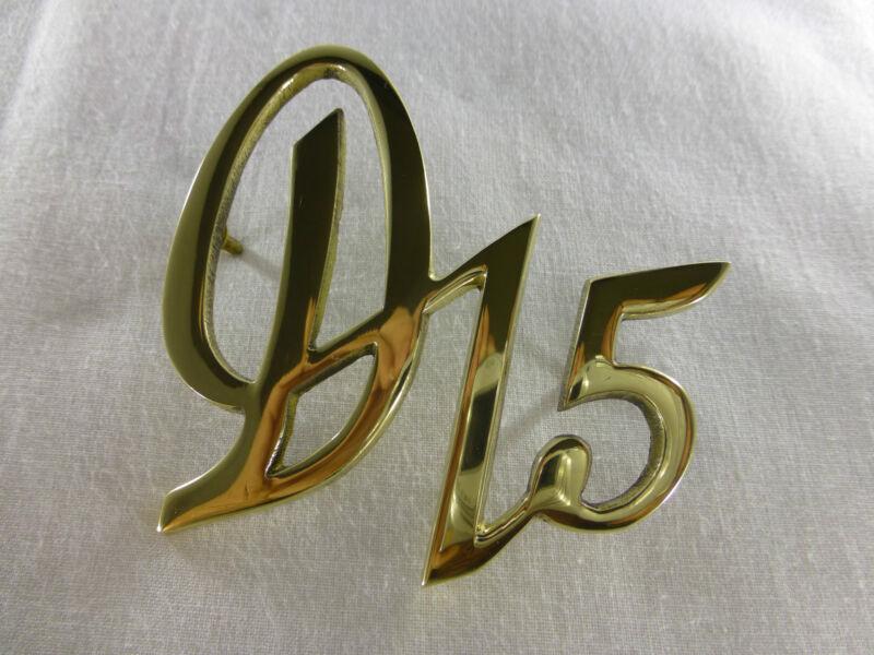 """Deutz Schriftzug Emblem """"D15"""" für D15 bzw F1L712 aus massiv Messing Foto 1"""