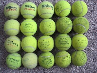 20 Used Tennis Balls, schools,games,dog toys.