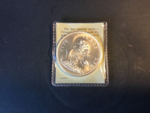 Large 1972 Elizabeth II Bahamas Island $5 UNC.Sterling Silver COIN 42.12 Grams