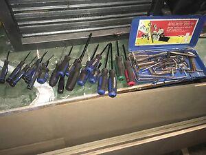 screwdrivers and Allen keys