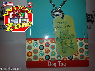 Bedtime Bear - Care Bear Dog Tag Necklace - Wake Me When It