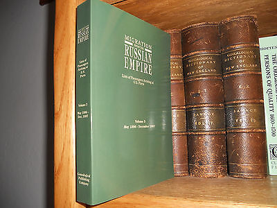 Migration From The Russian Empire Volume 3 Genealogy Book