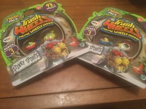 2 X The Trash Pack Series 3 Trash Wheels- 2 Pack - Stinky Sports - New