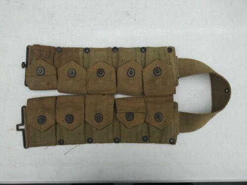 WW2 US Marine Corp M1 Grande Cartridge Belt MFG Burlington 1942