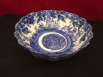 "Antique Meiji Japanese  Porcelain Blue & White Bowl  7.5"" - Quality"