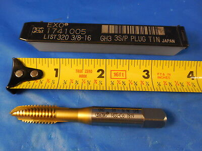 Osg 38 16 Tap Exo Gh3 3 Flute Spiral Point Plug Tin Coated 1741005 Hss Cobalt