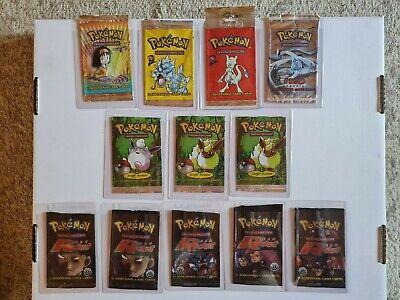 Pokemon *EMPTY* WOTC x12 Booster Packs 1st Editions Jungle Team Rocket Neo Lugia
