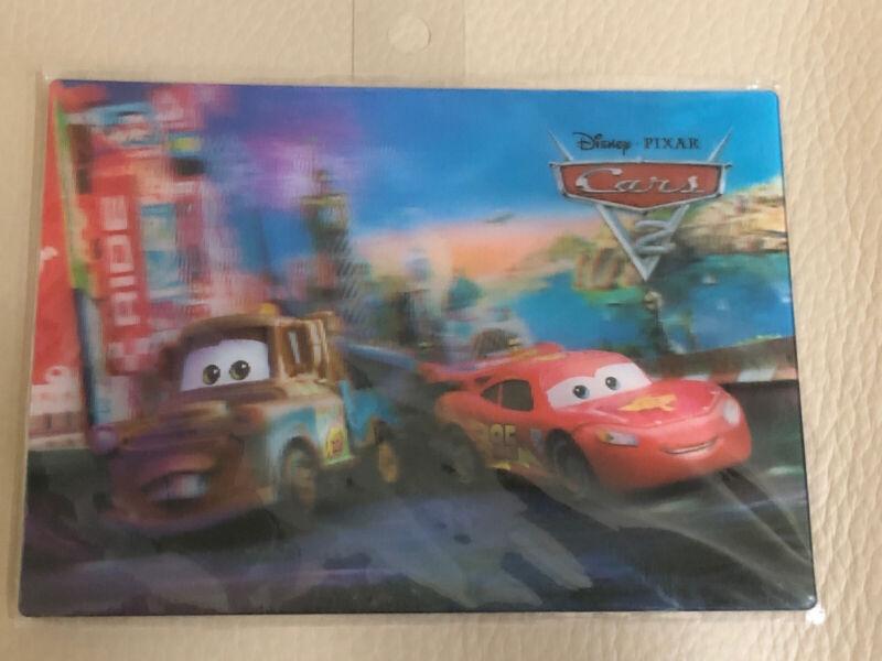 Disney Cars 2 3D lenticular Lightning McQueen + Mater card post