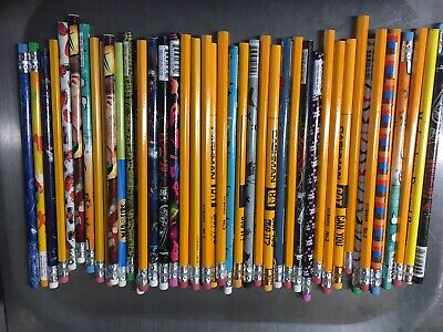 Wholesale Bulk Lot of 50 Assorted no.2 pencils great for school, home or office (Pencils Bulk)