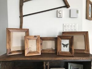 (5) Wood Picture Frames (8x10, 5x7 & 4x6)