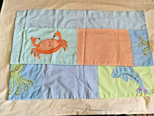 Set of 2 Tiddliwinks Crib Nursery Window Valances Sea Animals Octopus Dolphin