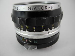 NIKON NIKKOR 28/3.5 NON AI CHROME FRONT RING EARLY HAS SOME MARKS ON BARREL