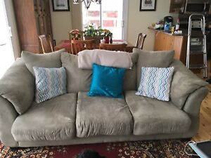 Three piece couch, loveseat and chair set