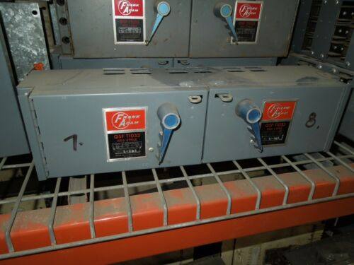 Frank Adam Qsf-t1033 100a/100a Twin 3ph 240v Fusible Panelbaord Switch Unit