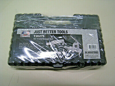 New Jb Industries T20275 45 Degree Flaring And Swage Tool Set Free Shipping