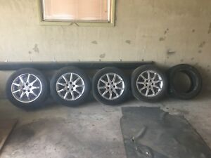 4 chrome rims and tires