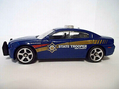 Matchbox Dodge Charger Pursuit State Police Car Blue 2016 Loose/New