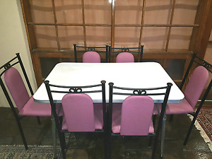 Retro Kitchen Table & 6 Restaurant quality chairs ($85/ea New).