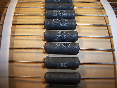 Qty 10 150 Ohm 5w 1 Precision Wirewound Resistors Rs5-150-1 Dale