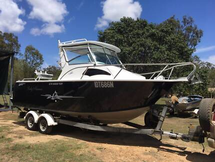 2009 TABS 6.7m Hard Top     . Plate aluminium Boat.
