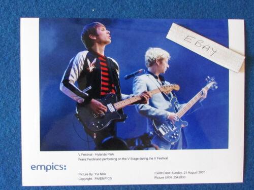 "Original Press Photo - 8""x6"" - Franz Ferdinand - 2005 - B"