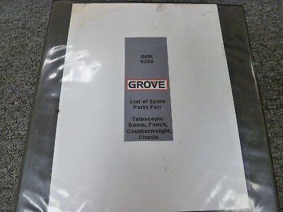 Grove Model Gmk6300 All Terrain Mobile Crane Parts Catalog Manual Book