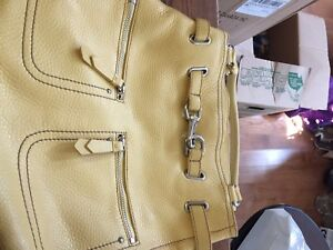 Butter yellow leather Cole Haan purse.  Gently used