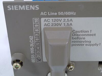 Siemens 120230vac 5vdc18a Power Supply 6es5 955-3lc42