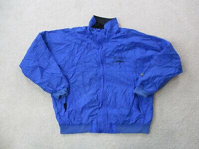 Helly Hansen Jacket Adult Large Blue Black Full Zip Outdoors Coat Mens A05