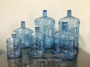 Plastic Water Jug Bottle 5 Gallon 3 Gallon 2 Gallon 1