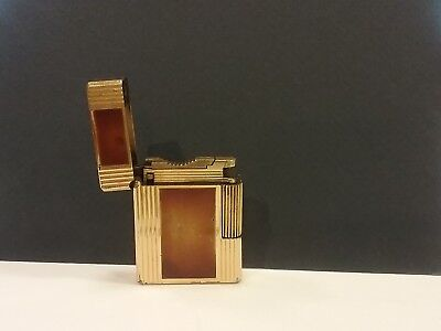 Vintage, S T DuPont lighter, gold finish with brown chinese laquer, France, for sale  Winter Springs