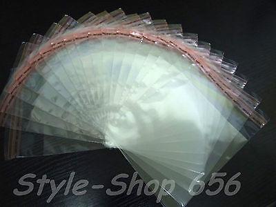 100 Stück,30x40/45cm PP-Folienbeutel,Klar,Flachbeutel,Plastiktüte,Selbstklebend