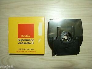 100' Kodak Supermatic Cassette B Super 8 Film Cartridge blank empty Vintage