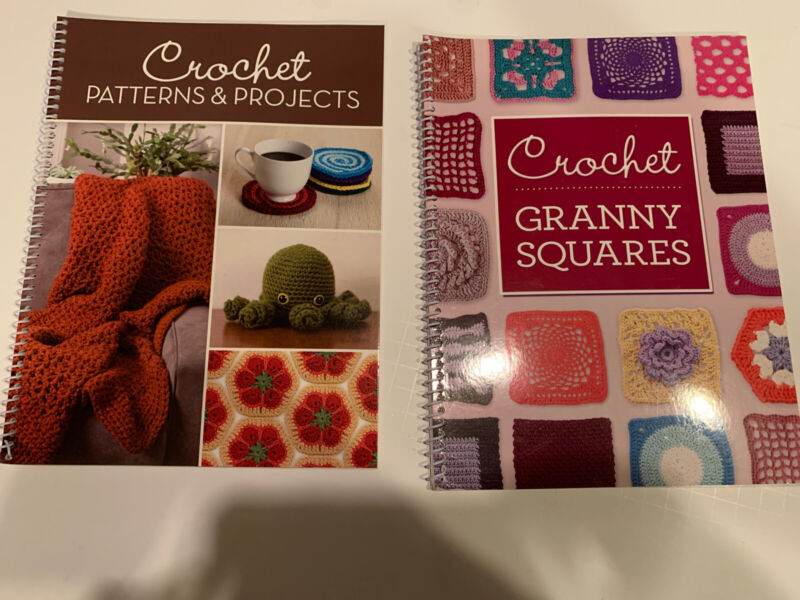 Lot Of 2 Crochet Pattern Projects Books Granny Squares Publications In. Ltd.