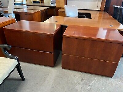 2dr 36w Lateral File Cabinet By Kimball Office Furniture In Cherry Finish Wood