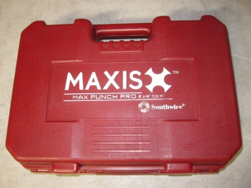 """SOUTHWIRE MAXIS MAX PUNCH PRO 2-1/2"""" TO 4"""" HEAVY DUTY DIE PUNCH SET"""