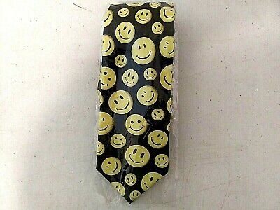 Smiley Faces Tie - Emoji Themed Novelty Necktie - Funny Faces Tie-Halloween-Joke