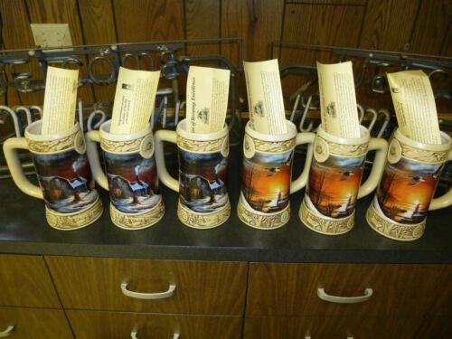 Ducks Unlimited Miller BEER Stein THE SHARING SEASON 1996 Mug Terry Redlin Cabin